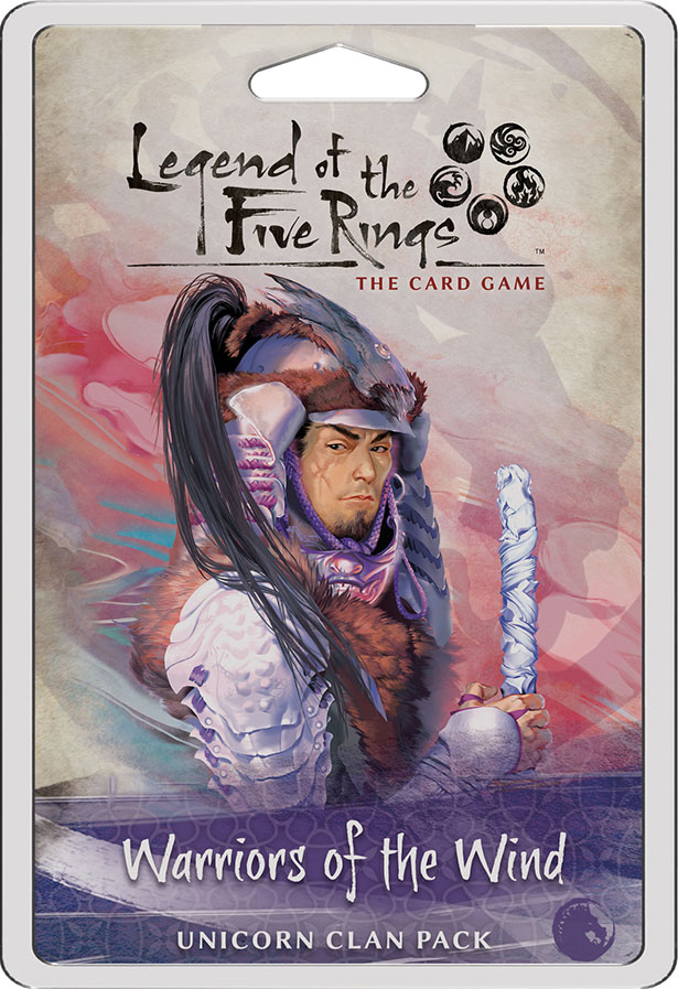 Legend Of The Five Rings Lcg: Warriors Of The Wind - Unicorn Clan Pack Game Box