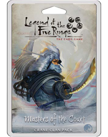 Legend Of The Five Rings Lcg: Masters Of The Court - Crane Clan Pack Game Box