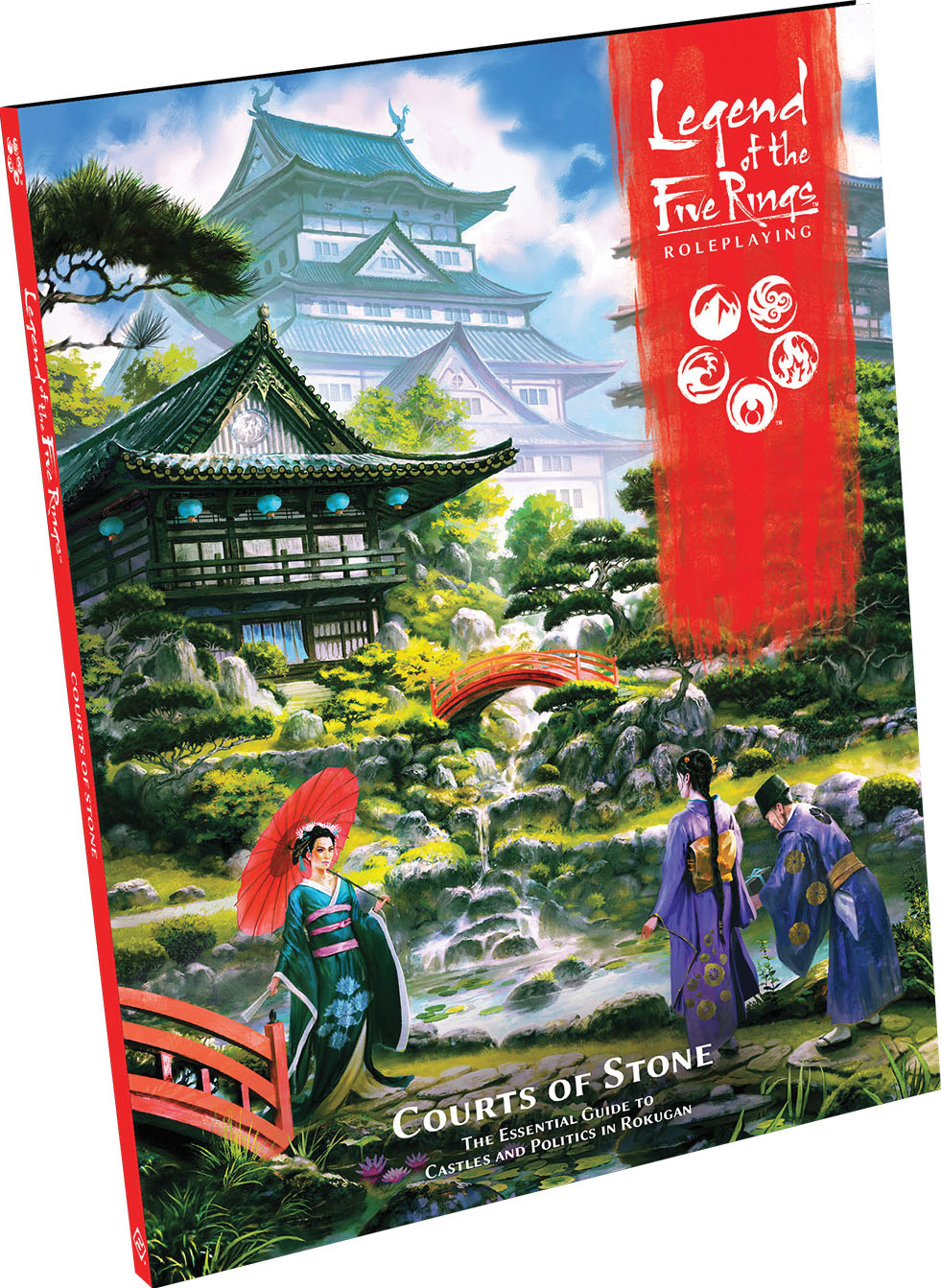 Legend Of The Five Rings Rpg: Courts Of Stone Hardcover Game Box