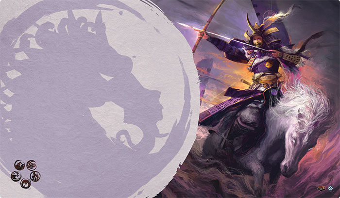 Legend Of The Five Rings Lcg: Mistress Of The Five Winds Playmat (unicorn Clan) Box Front