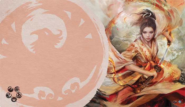Legend Of The Five Rings Lcg: The Soul Of Shiba Playmat (phoenix Clan) Box Front