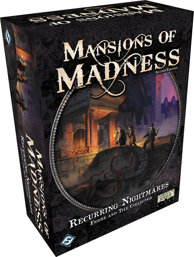 Mansions Of Madness 2nd Edition: Recurring Nightmares Figure And Tile Collection Box Front