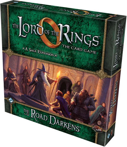 The Lord Of The Rings Lcg: The Road Darkens Saga Expansion Box Front