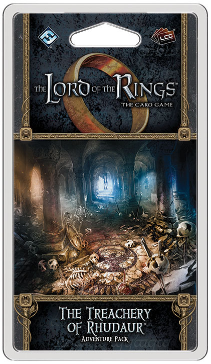 The Lord Of The Rings Lcg: The Treachery Of Rhudaur Adventure Pack Box Front