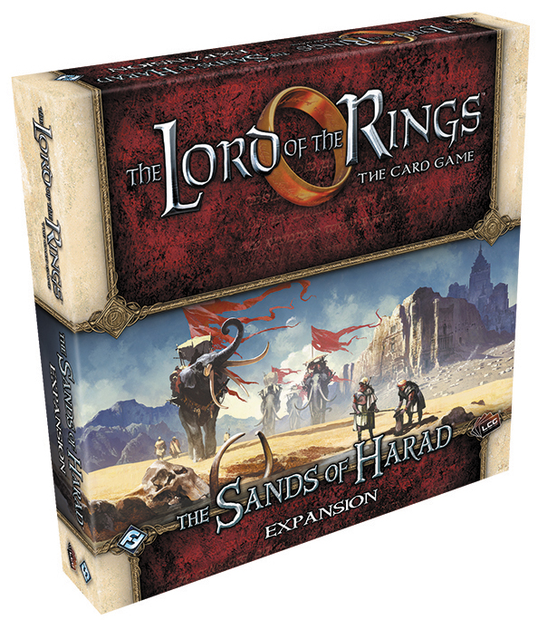 The Lord Of The Rings Lcg: The Sands Of Harad Deluxe Expansion Box Front