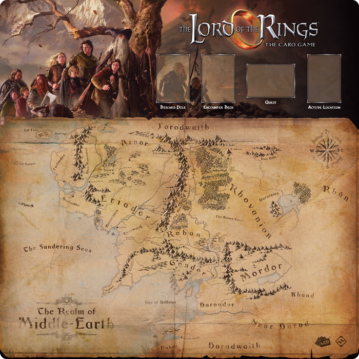 The Lord Of The Rings Lcg: Fellowship 1-4 Player Gamemat Box Front