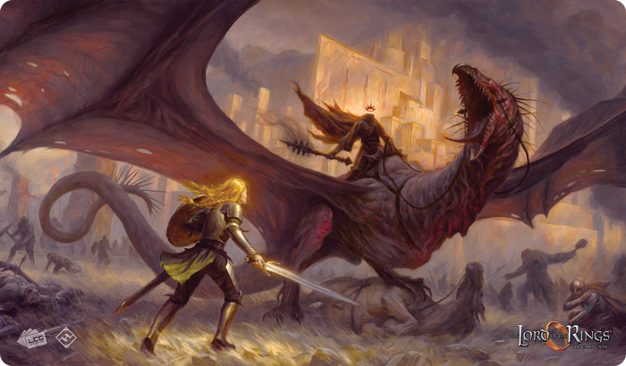 The Lord Of The Rings Lcg: Flame Of The West Playmat Box Front