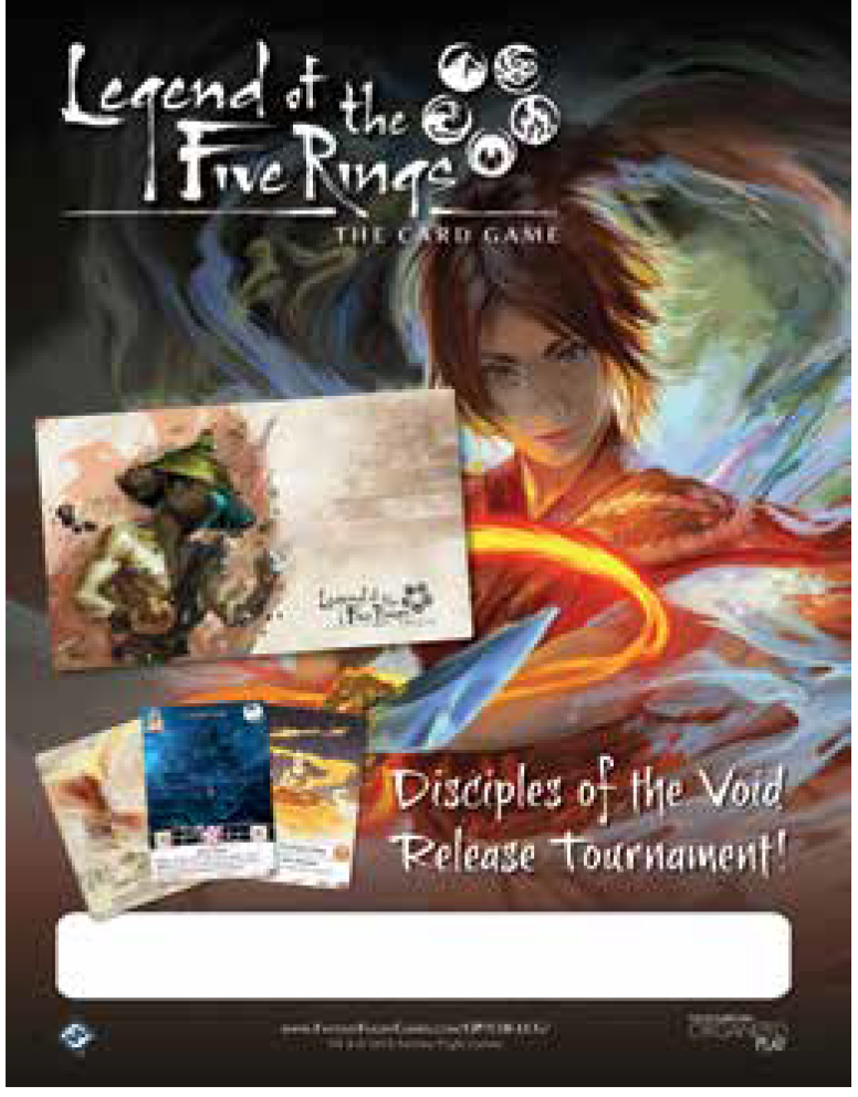 Legend Of The Five Rings Lcg: Disciples Of The Void - Release Kit Box Front