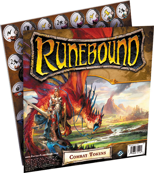 Runebound (third Edition): Combat Tokens Box Front