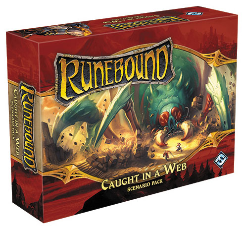 Runebound (third Edition): Caught In A Web Scenario Pack Expansion Box Front