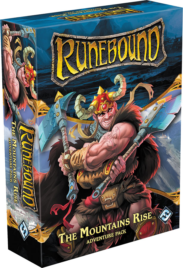 Runebound (third Edition): The Mountains Rise Adventure Pack Expansion Box Front