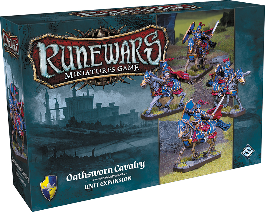 Runewars: The Miniatures Game - Oathsworn Cavalry Unit Expansion Box Front