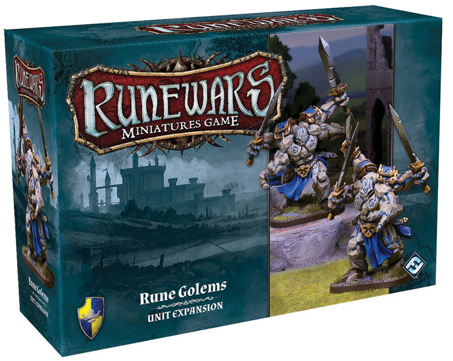Runewars: The Miniatures Game - Rune Golems Unit Expansion Box Front