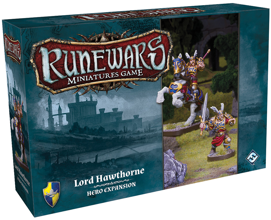 Runewars: The Miniatures Game - Lord Hawthorne Hero Expansion Pack Box Front