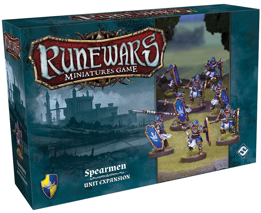 Runewars: The Miniatures Game - Spearmen Unit Expansion Box Front
