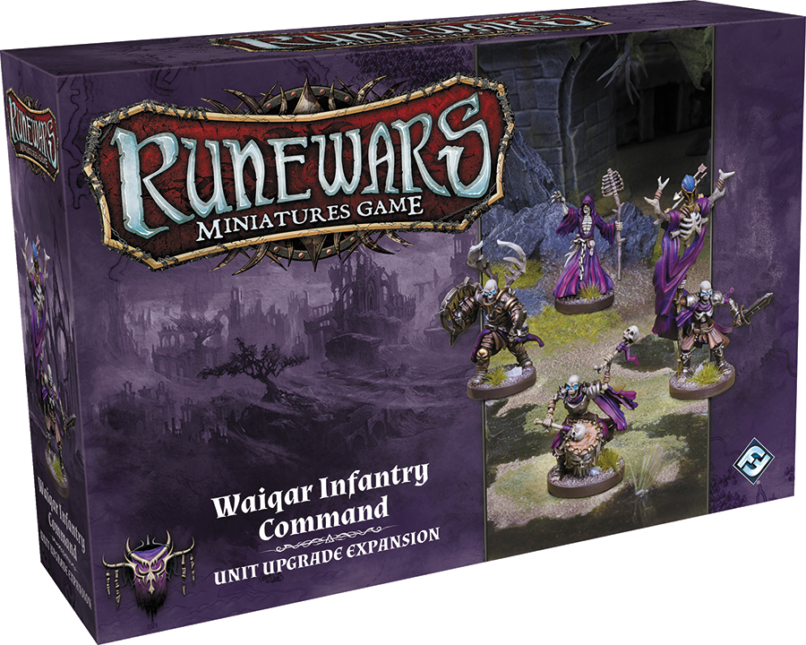 Runewars: The Miniatures Game - Waiqar Infantry Command Unit Upgrade Expansion Box Front