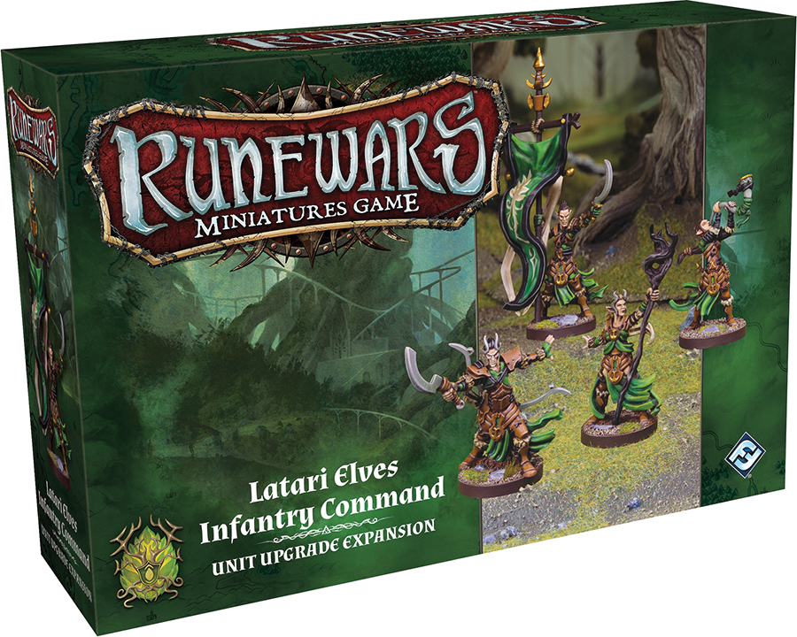 Runewars: The Miniatures Game - Latari Elves Infantry Command Unit Upgrade Expansion Box Front