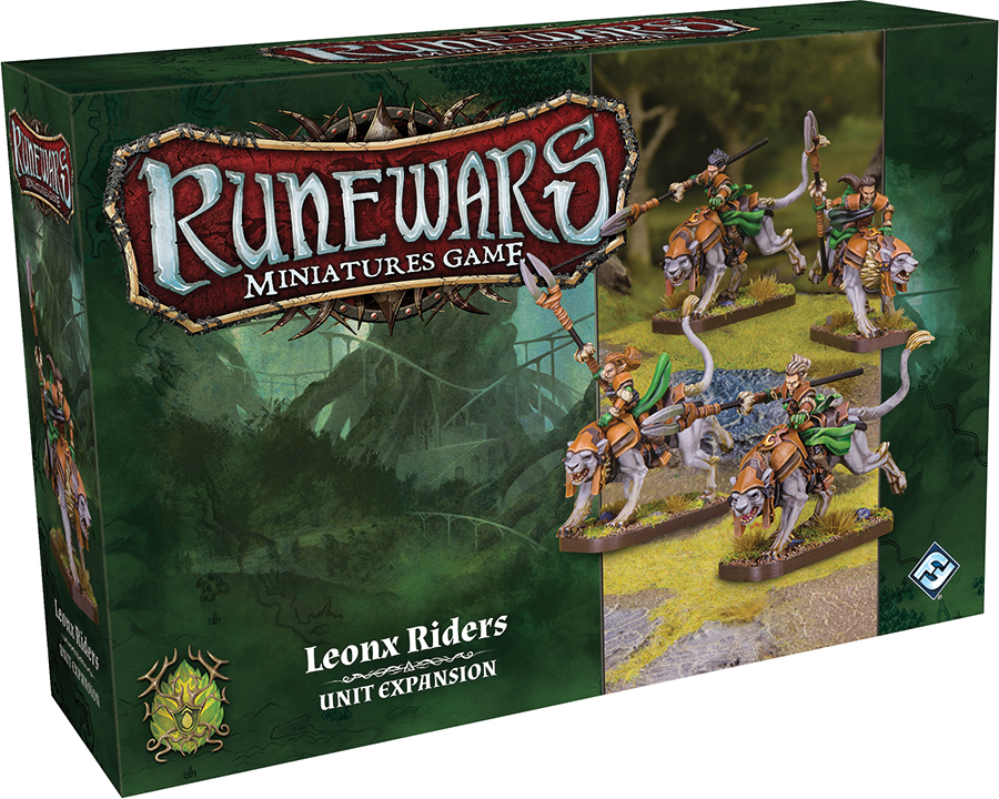 Runewars: The Miniatures Game - Leonx Riders Unit Expansion Box Front