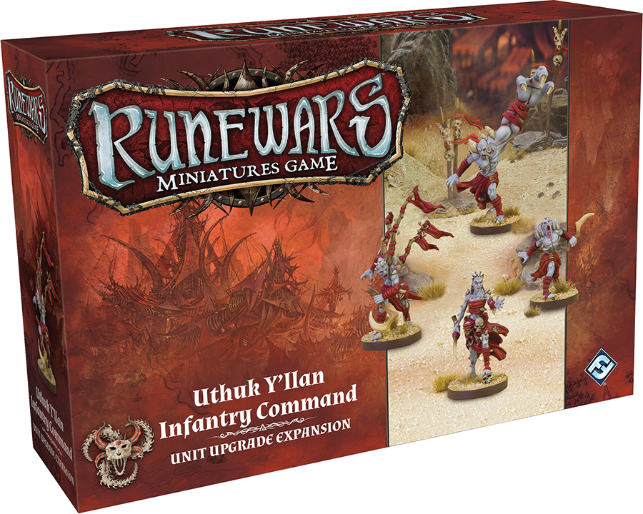 Runewars: The Miniatures Game - Uthuk Y`llan Infantry Command Unit Upgrade Expansion Box Front