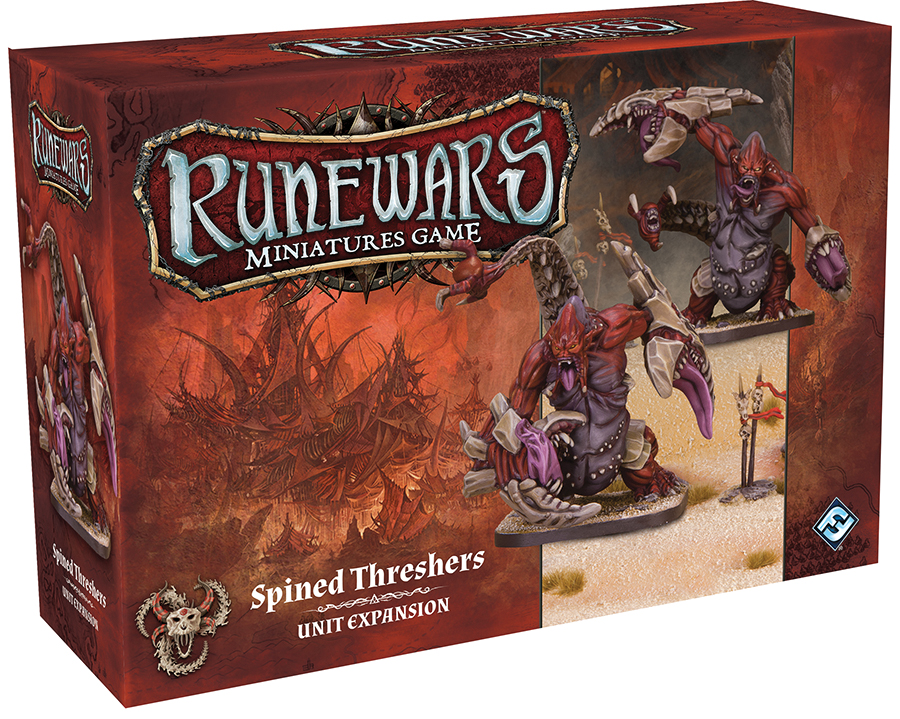 Runewars: The Miniatures Game - Spined Threshers Unit Expansion Box Front