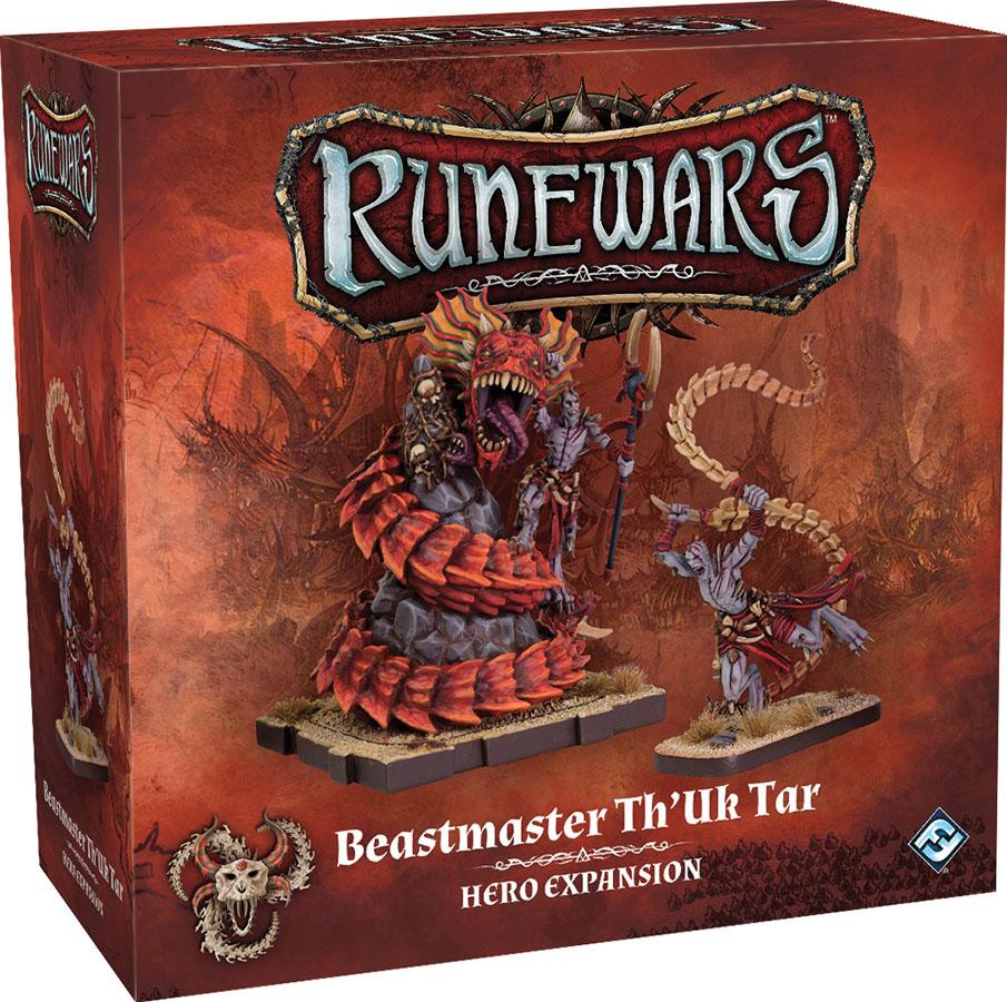 Runewars: The Miniatures Game - Beastmaster Th`uk Tar Hero Expansion Game Box