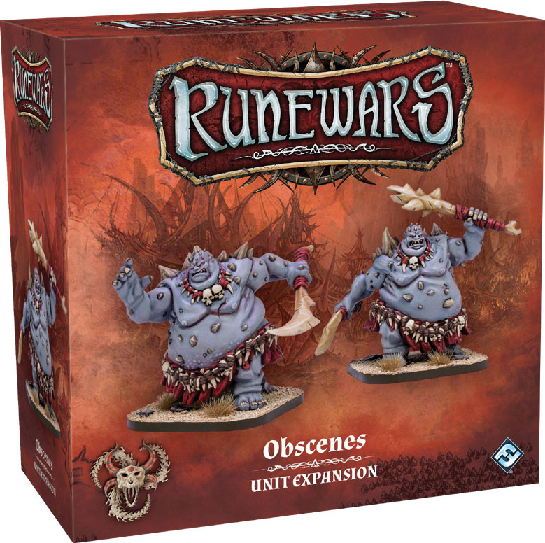 Runewars: The Miniatures Game - Obscenes Unit Expansion Game Box