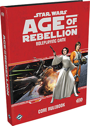 Star Wars Rpg: Age Of Rebellion - Core Rulebook Hardcover Box Front