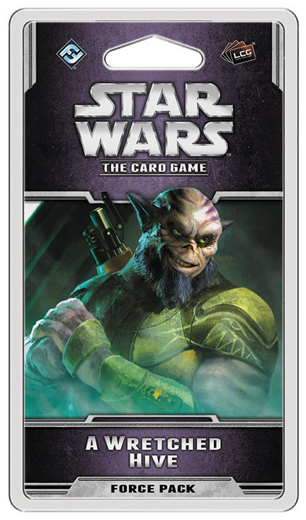 Star Wars Lcg: A Wretched Hive Force Pack Box Front