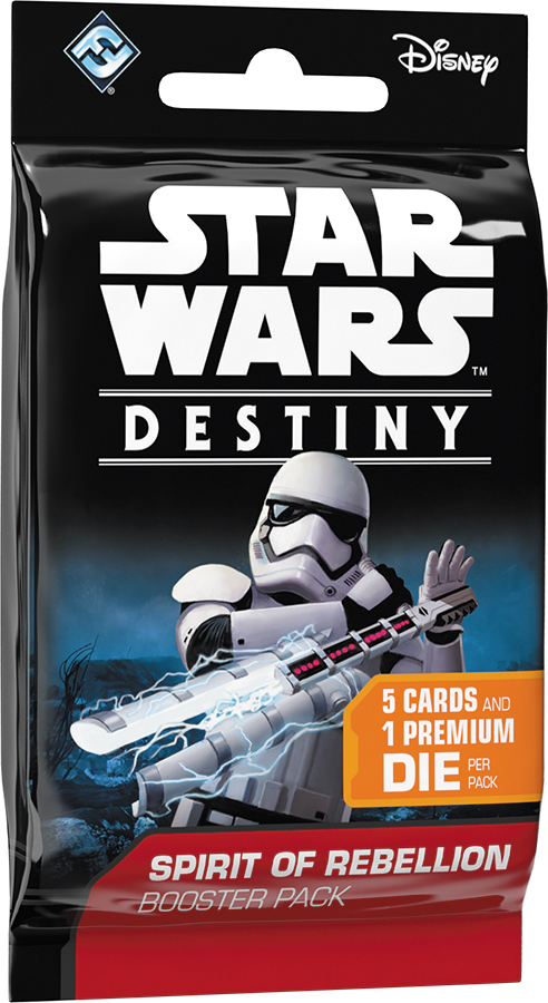 Star Wars Destiny: Spirit Of Rebellion Booster Pack Display (36) Box Front