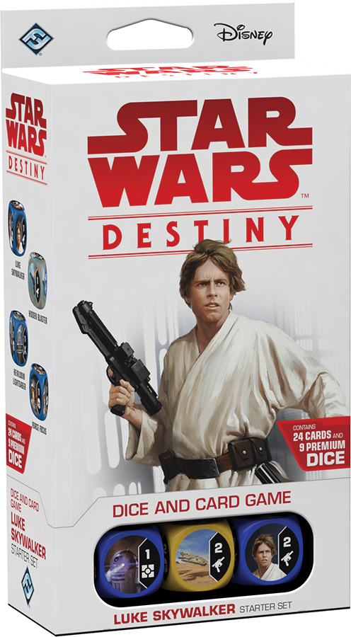 Star Wars Destiny: Luke Skywalker Starter Set Box Front