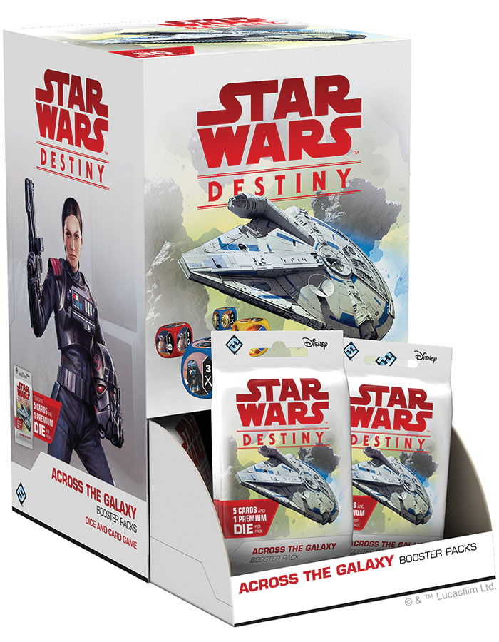 Star Wars Destiny: Across The Galaxy Booster Pack Display (36) Game Box