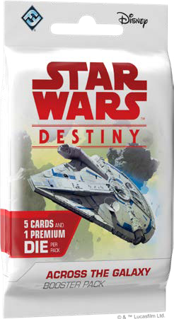 Star Wars Destiny: Across The Galaxy Booster Pack Game Box