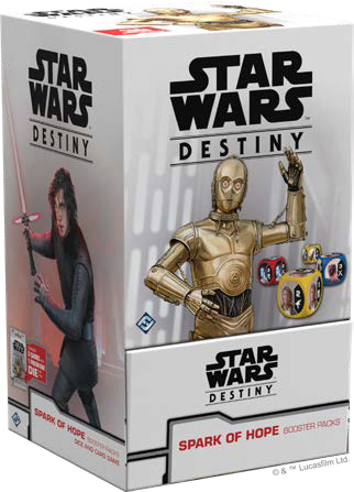 Star Wars Destiny: Spark Of Hope Booster Pack Display (36) Game Box