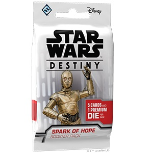 Star Wars Destiny: Spark Of Hope Booster Pack Game Box