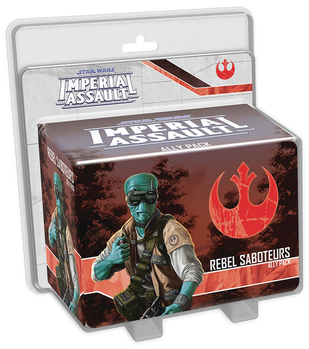 Star Wars Imperial Assault: Rebel Saboteurs Ally Pack Box Front