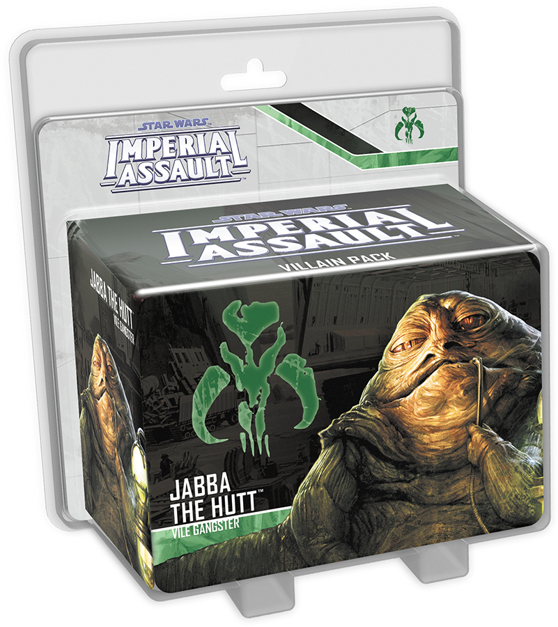 Star Wars Imperial Assault: Jabba The Hutt Villain Pack Box Front