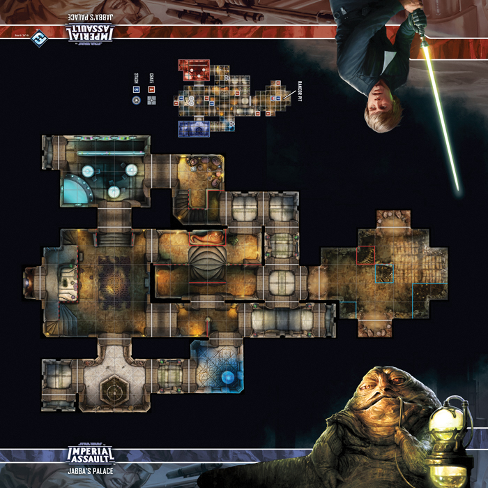 Star Wars Imperial Assault: Skirmish Map - Jabba`s Palace Box Front