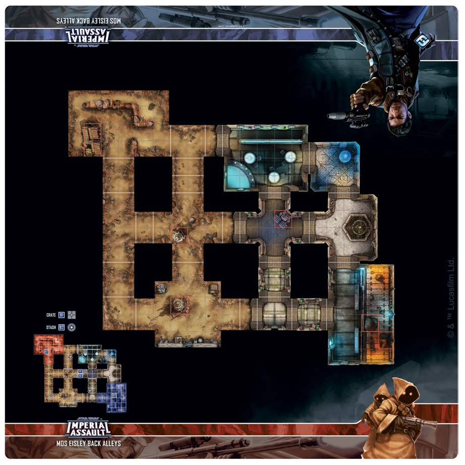 Star Wars Imperial Assault: Skirmish Map - Mos Eisley Back Alleys Box Front