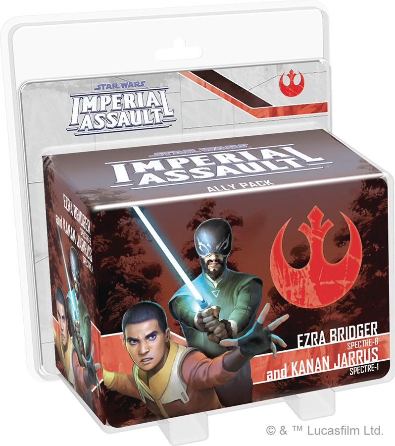 Star Wars Imperial Assault: Ezra Bridger And Kanan Jarrus Ally Pack Box Front