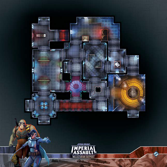 Star Wars Imperial Assault: Raid Map - Malastarian Outpost Game Box