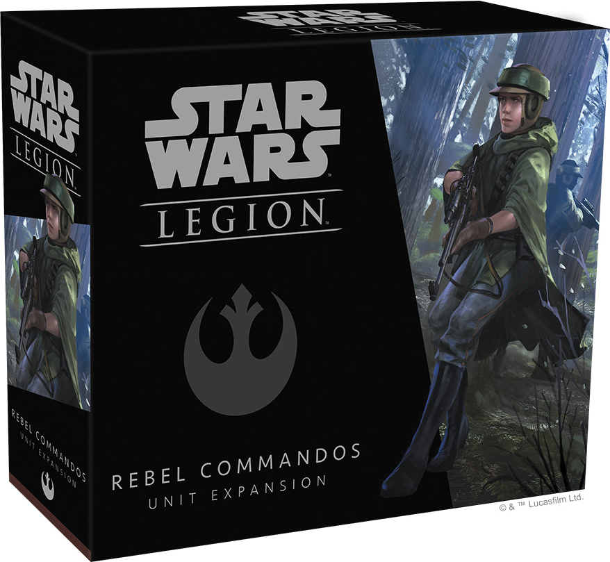 Star Wars: Legion - Rebel Commandos Unit Expansion Box Front