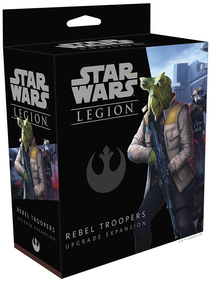 Star Wars: Legion - Rebel Troopers Upgrade Expansion Game Box