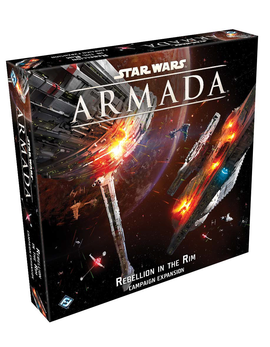 Star Wars Armada: Rebellion In The Rim Campaign Expansion Game Box