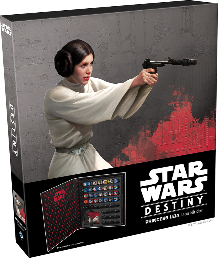 Star Wars Destiny: Princess Leia Dice Binder Box Front