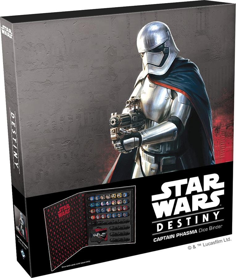 Star Wars Destiny: Captain Phasma Dice Binder Box Front