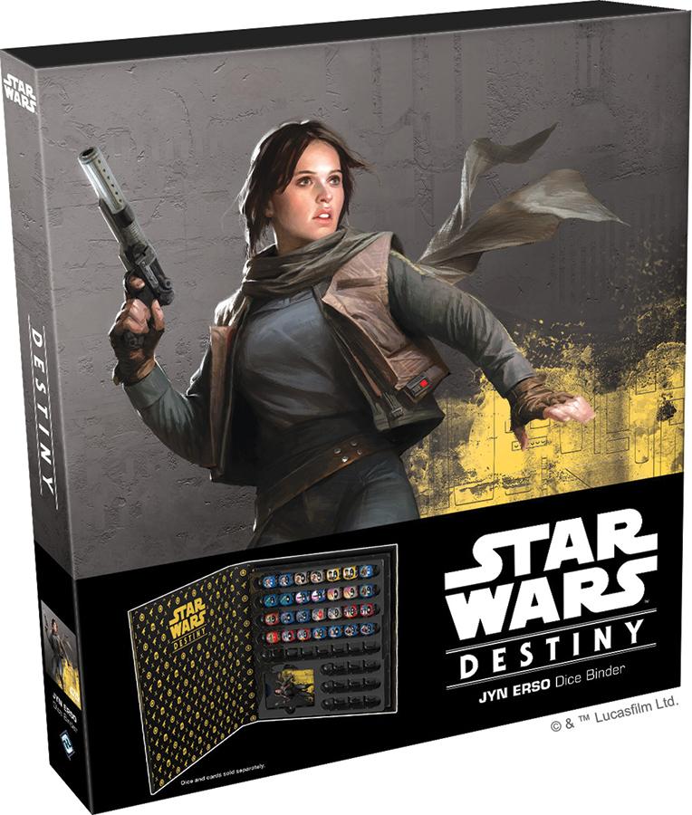 Star Wars Destiny: Jyn Erso Dice Binder Box Front