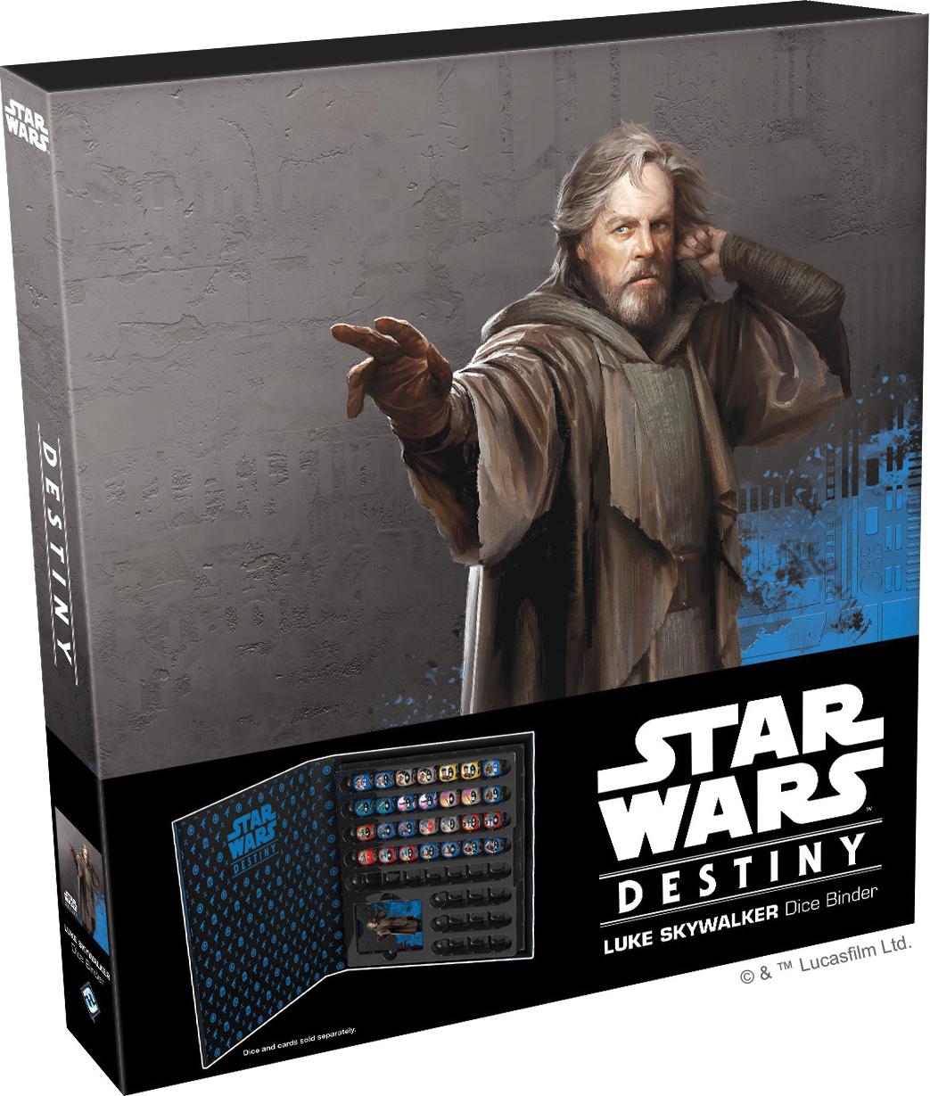 Star Wars Destiny: Luke Skywalker Dice Binder Box Front