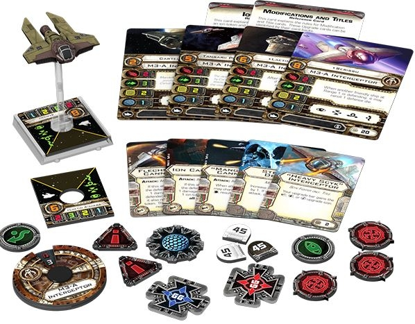 Star Wars X-wing Miniatures Game: M3-a Interceptor Expansion Pack Box Front