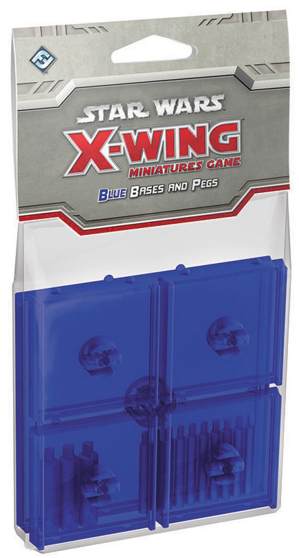 Star Wars X-wing Miniatures Game: Blue Bases And Pegs Box Front