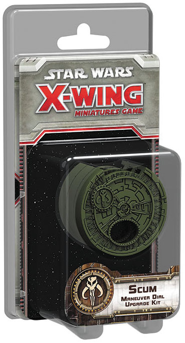 Star Wars X-wing Miniatures Game: Scum And Villainy Maneuver Dial Upgrade Kit Box Front